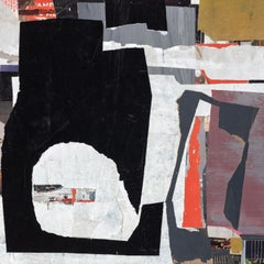 """""""The Space Between"""" - Non-Objective Paper Collage - Diebenkorn"""
