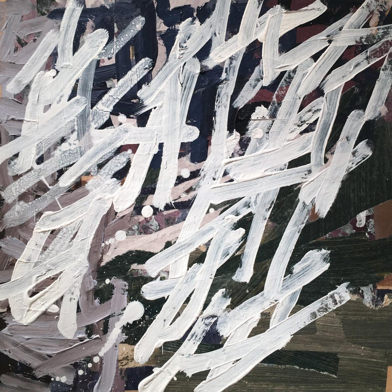 "Aimée Farnet Siegel Abstract Painting - ""Drifter"" - Non-Objective Paper Collage - Diebenkorn"