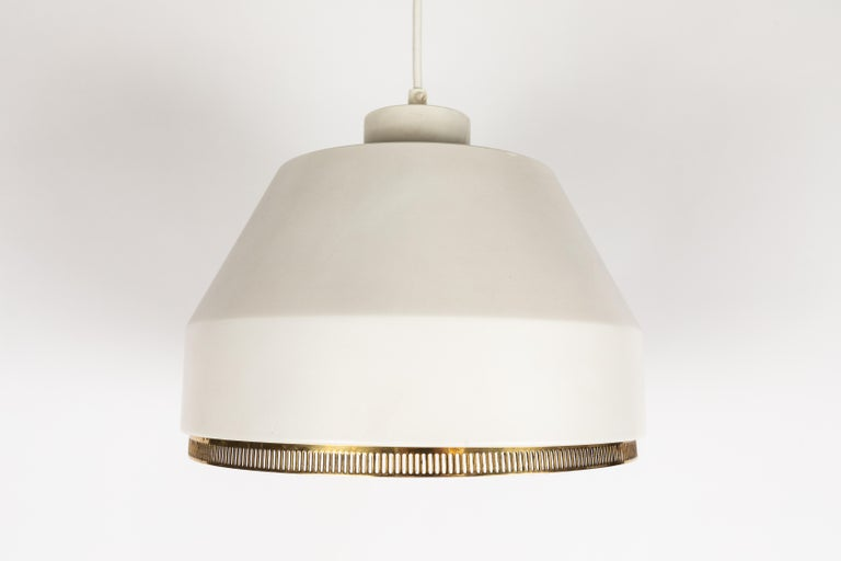 Brass Aino Aalto 'Ama 500' Pendant Light, 1940s For Sale