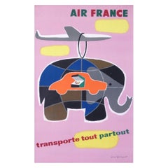 Air France Carries Everything Everywhere Original Vintage Poster