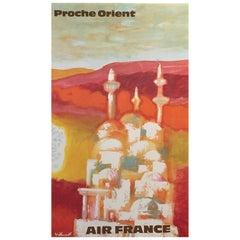 'Air France Proche Orient' by Villemot, Original Vintage Travel Poster 1967