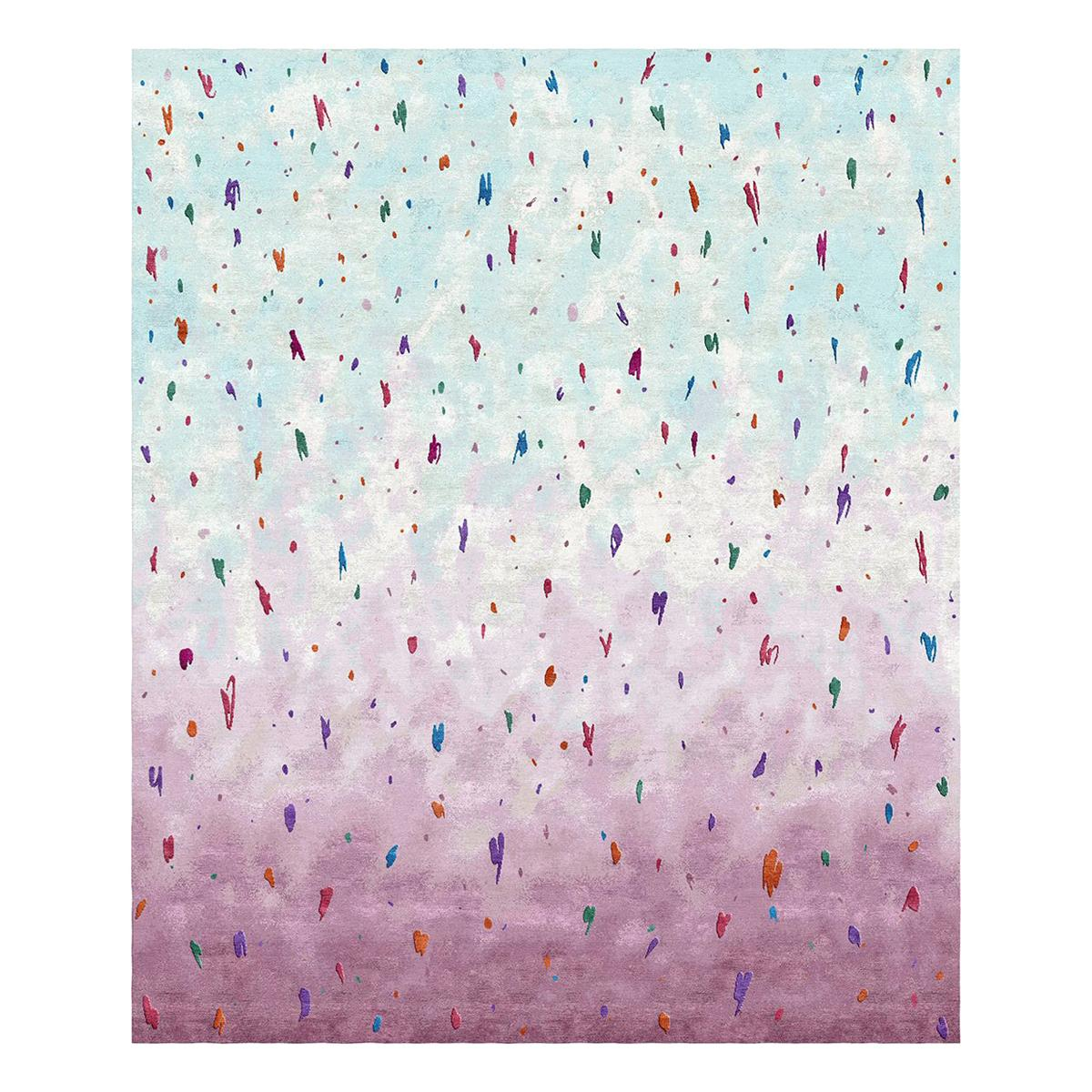 Air - Modern Colorful Hand Knotted Wool Silk Rug