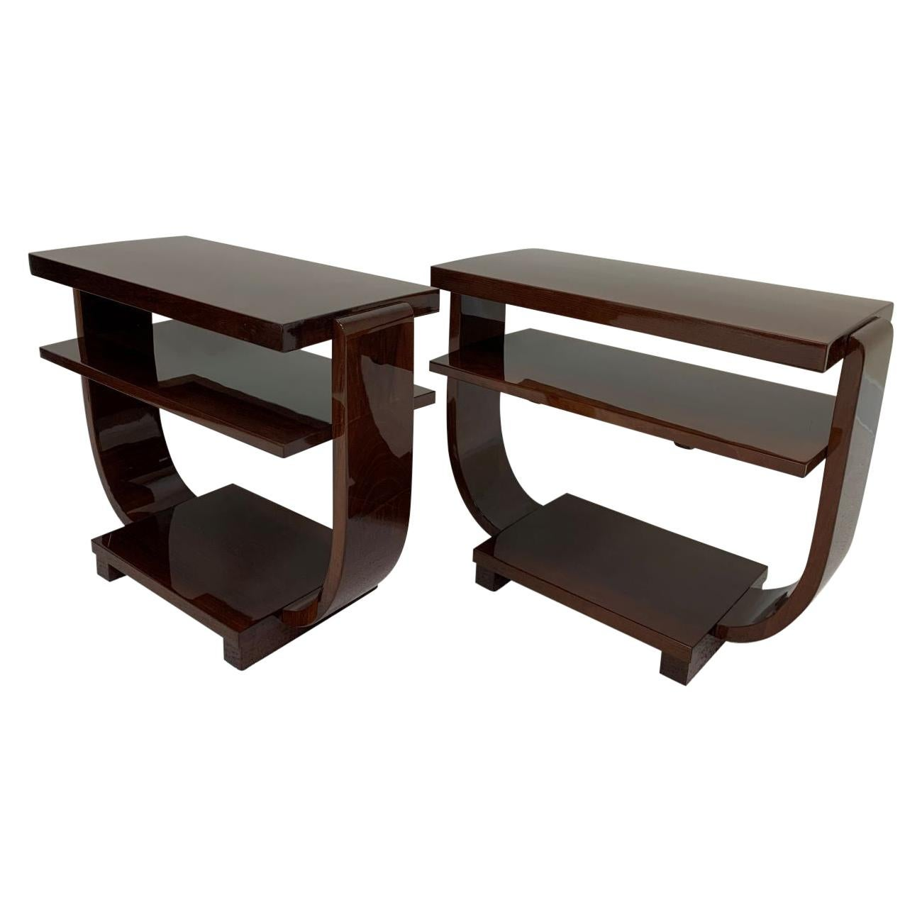 Art Deco Machine Age End Tables by Modernage Furniture Company Circa 1930's