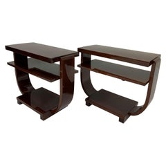 Art Deco Machine Age End Tables by Modernage Furniture Company