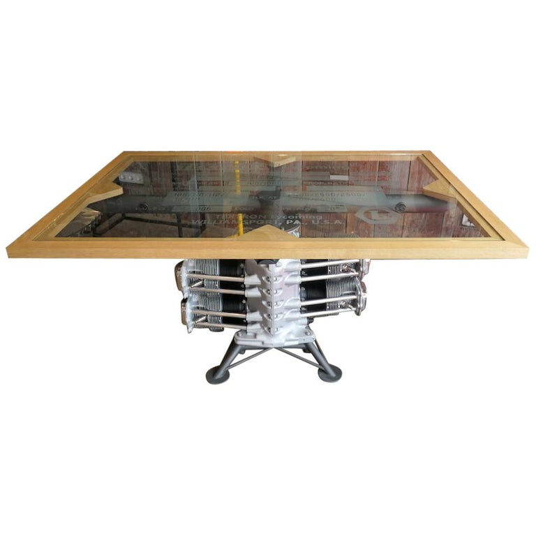 Dining Room Table For Sale: Aircraft Lycoming Engine Dining Room Table For Sale At 1stdibs