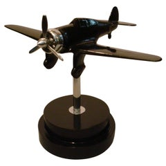 Airplane Fighter Desk Stand Model, 1930s