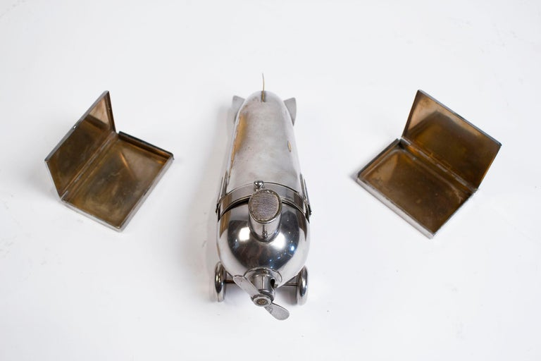 Art Deco Airplane Smoker's Set by J.A. Henckels 1930s For Sale 4