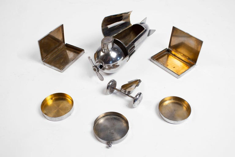 Art Deco Airplane Smoker's Set by J.A. Henckels 1930s For Sale 6