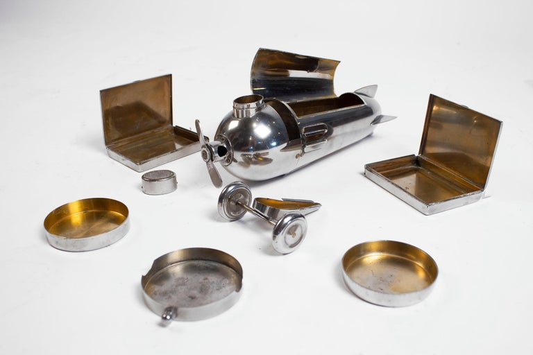 Art Deco Airplane Smoker's Set by J.A. Henckels 1930s For Sale 9