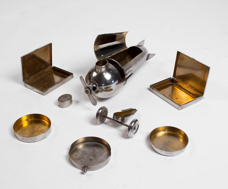 Art Deco Airplane Smoker's Set by J.A. Henckels 1930s For Sale 10