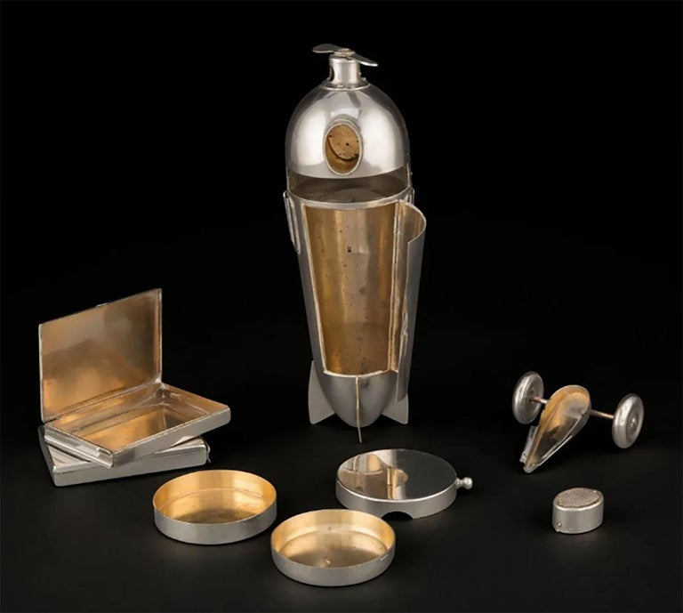 Art Deco Airplane Smoker's Set by J.A. Henckels 1930s For Sale 11
