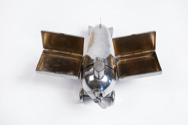 Art Deco Airplane Smoker's Set by J.A. Henckels 1930s For Sale 3
