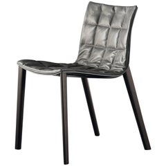 Airy 2016 Side and Dining Chair with Wooden Legs by Acerbis Design