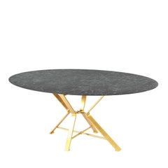 Aix Black and Gold Dining Table