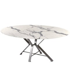 Aix White and Iron Dining Table