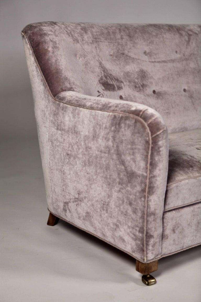 Scandinavian Modern A.J. Iversen Three-Seat Sofa Denmark, 1939 For Sale