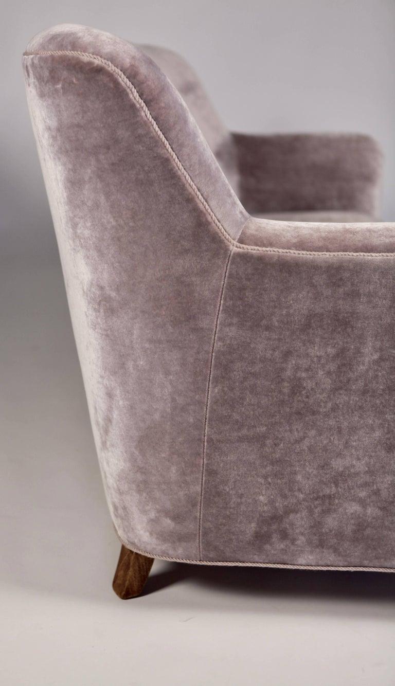 Mid-20th Century A.J. Iversen Three-Seat Sofa Denmark, 1939 For Sale