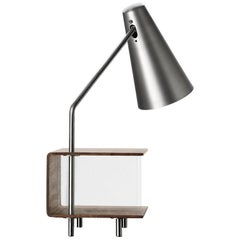 AJ52 Lamp Module in Stainless Steel for the Society Table by Arne Jacobsen
