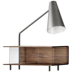 AJ52 Lamp Module in Walnut Oil for the Society Table by Arne Jacobsen