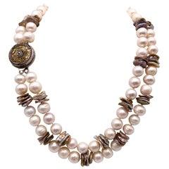 A.Jeschel 2 strand 14 m.m. Pearl necklace.