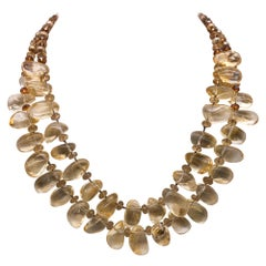 A.Jeschel 2 strand Citrine and Pearl necklace.