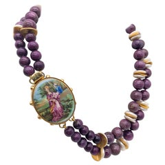 A.Jeschel 2 strand Stitchtite and coin Pearl necklace