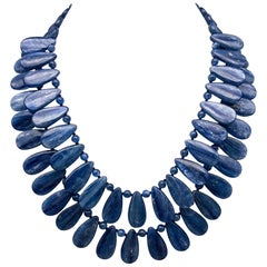 A.Jeschel A True Blue Kyanite 2 Strand Necklace