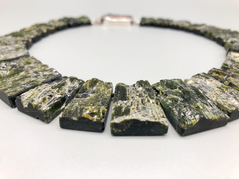 Contemporary A.Jeschel Black Tourmaline—The most powerful stone of all in a matched collar  For Sale