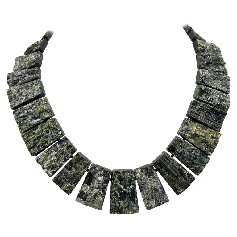 A.Jeschel Black Tourmaline—The most powerful stone of all in a matched collar  For Sale