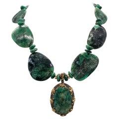 A.jeschel Brillant Emerald Necklace