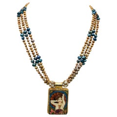 A.Jeschel Fine handpainted Russian enamel necklace