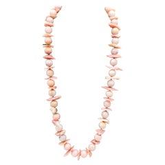 A.Jeschel  Luxurious long Pink Peruvian Opal necklace,
