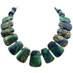 A.Jeschel Malachite Collar Necklace