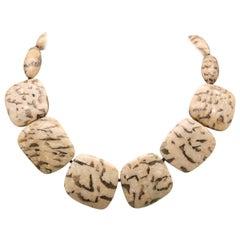 A.Jeschel Mysterious Jasper Stone Necklace