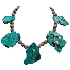 A.Jeschel Sterling Silver and Turquoise Necklace is not for the fain of heart