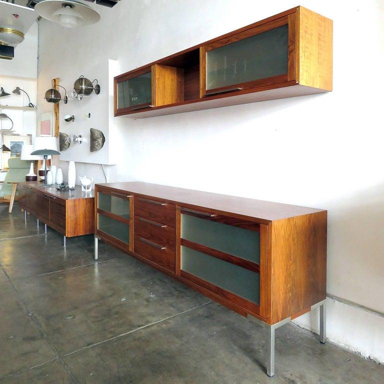 Modern AK-1270 Nissen & Gehl Sideboard and Hanging Cabinet For Sale