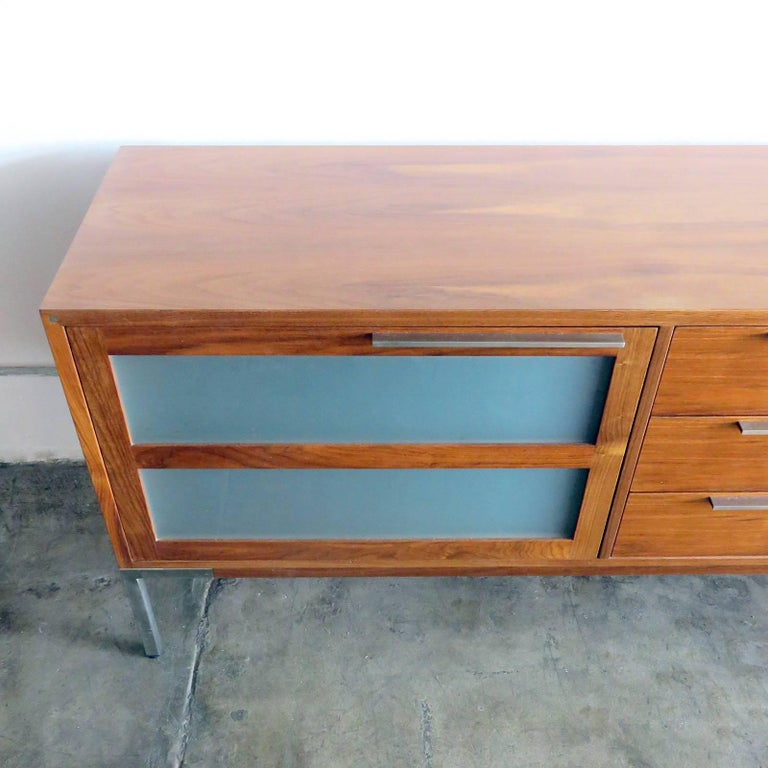 AK-1270 Nissen & Gehl Sideboard and Hanging Cabinet In Good Condition For Sale In Los Angeles, CA