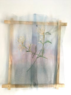 Textile painting of flowers: 'No. 21'