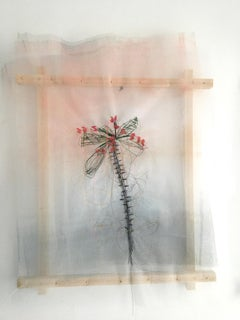 Textile painting of flowers: 'No. 22'