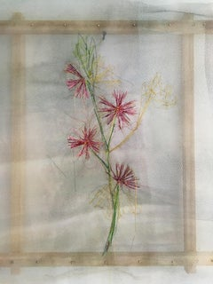 Textile painting of flowers: 'No. 23'
