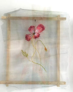 Textile painting of flowers: 'No. 24'