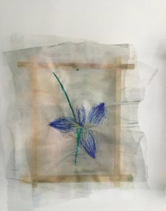 Textile painting of flowers: 'No. 25'