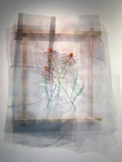 Textile painting of flowers: 'No. 26'