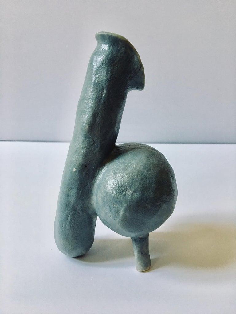 Ak Jansen Abstract Sculpture - Abstract  Ceramic Vessel Sculpture: 'Creature Small No 4'