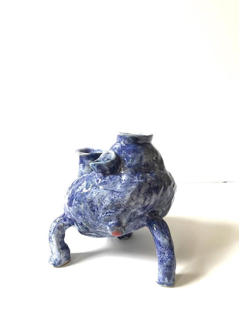 Abstract  Ceramic Vessel Sculpture: 'Creature Medium No 13' For Sale 1