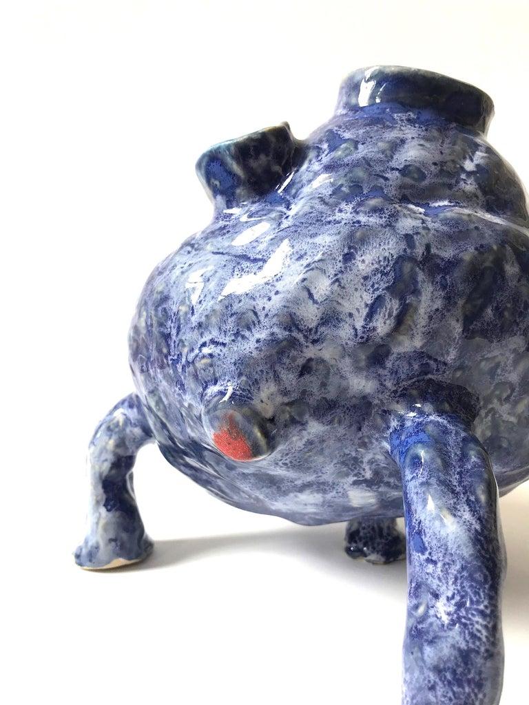 Ak Jansen Abstract Sculpture - Abstract  Ceramic Vessel Sculpture: 'Creature Medium No 13'