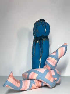 Ceramic and textile sculpture: 'No 2'