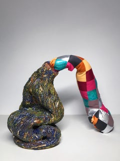 Ceramic and textile sculpture: 'No. 3'