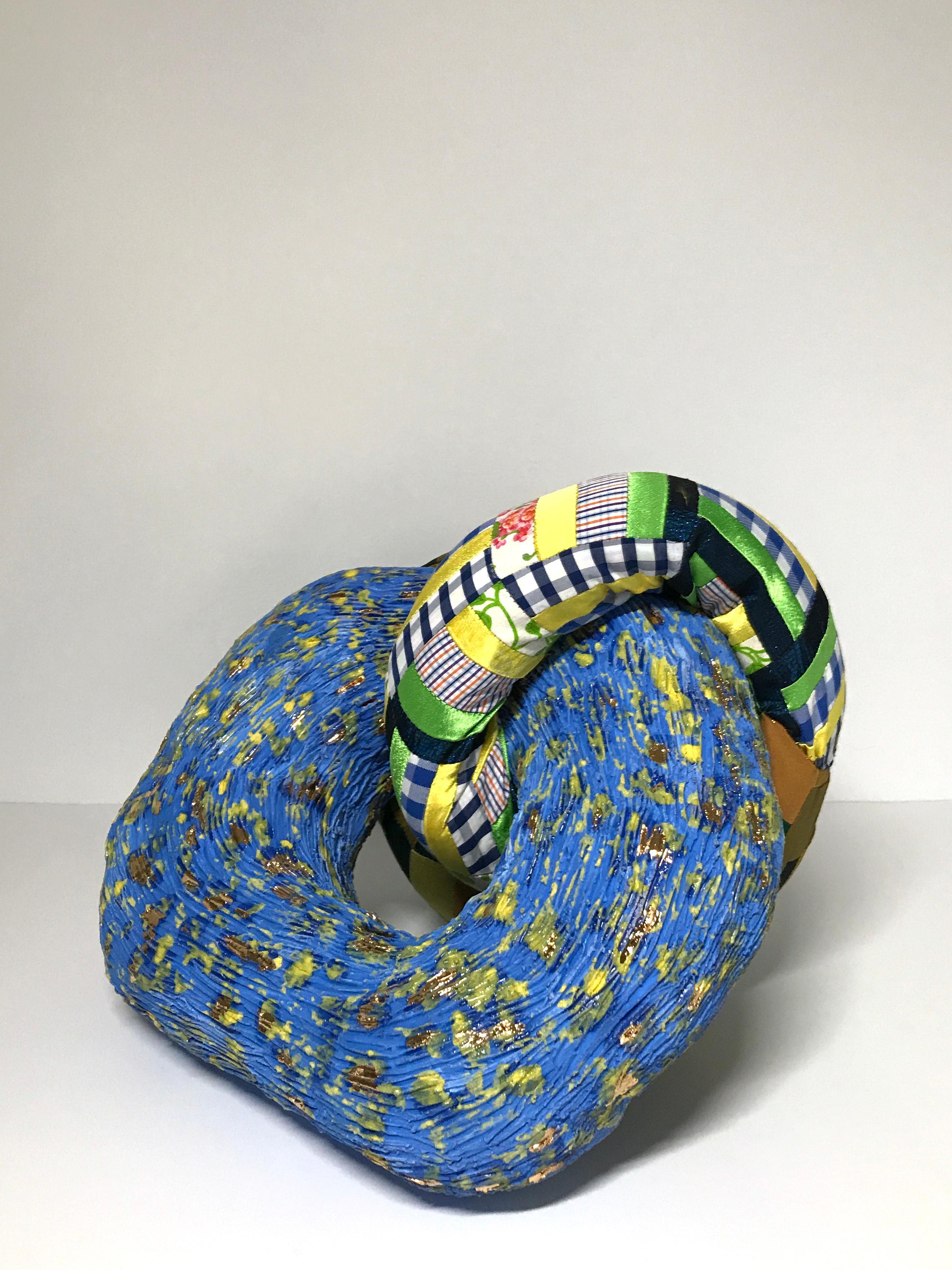 Ceramic and textile sculpture: 'No. 9'