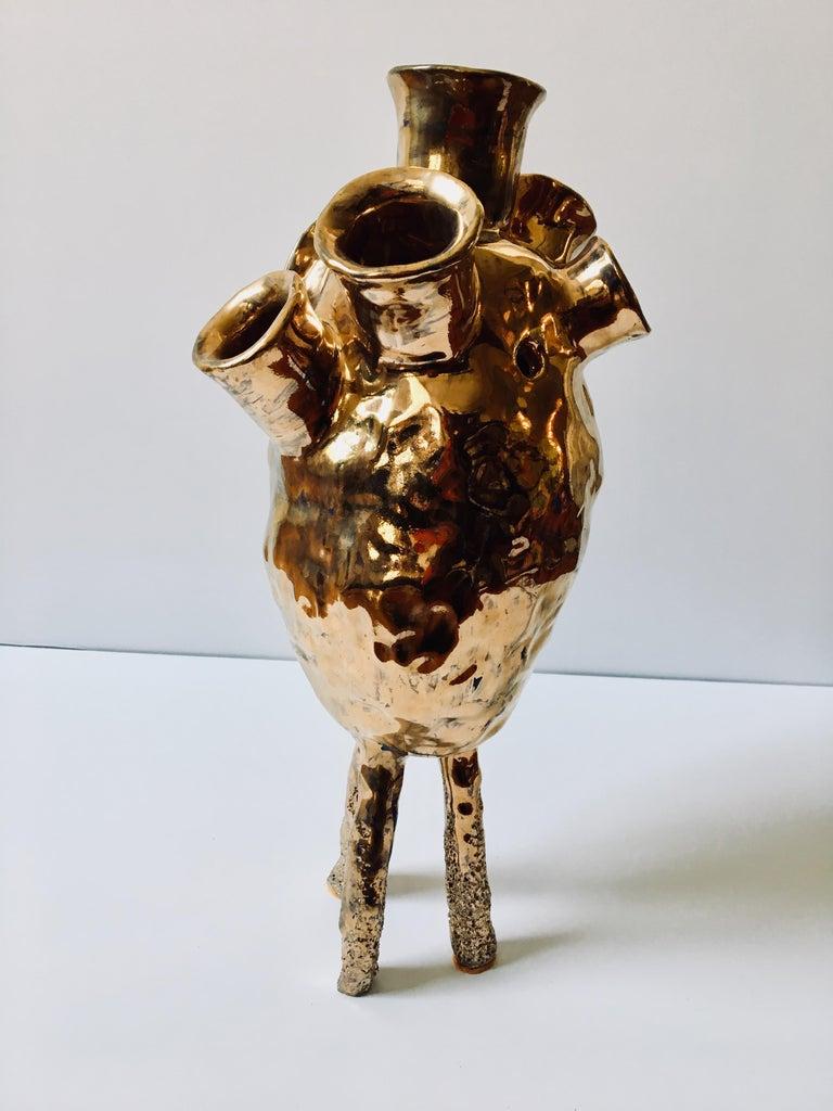 Abstract  Ceramic Vessel Sculpture: 'Creature Medium 9' For Sale 3
